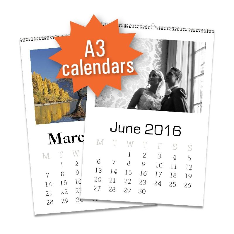 a3 wall calendar production print